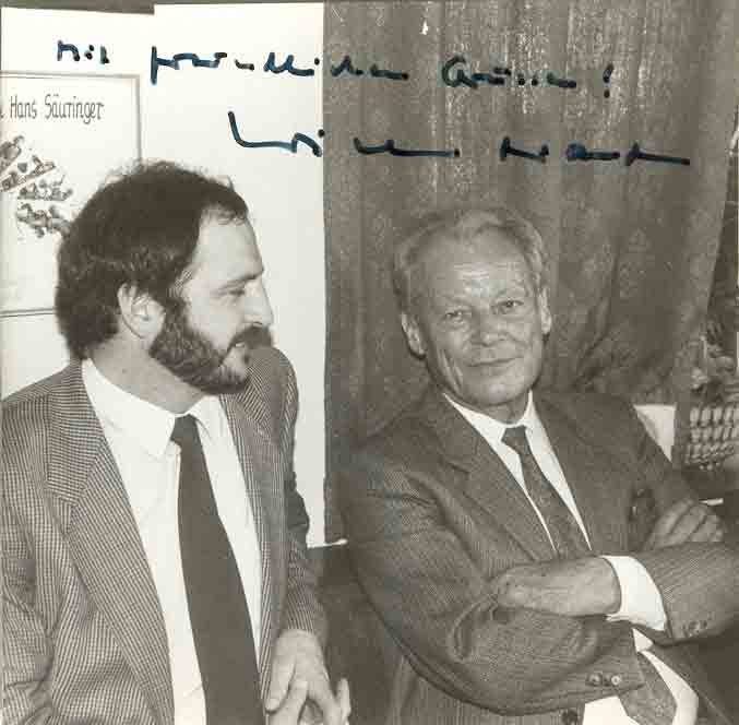 Udo Bayer Willy Brandt 1986 in Weißenburg